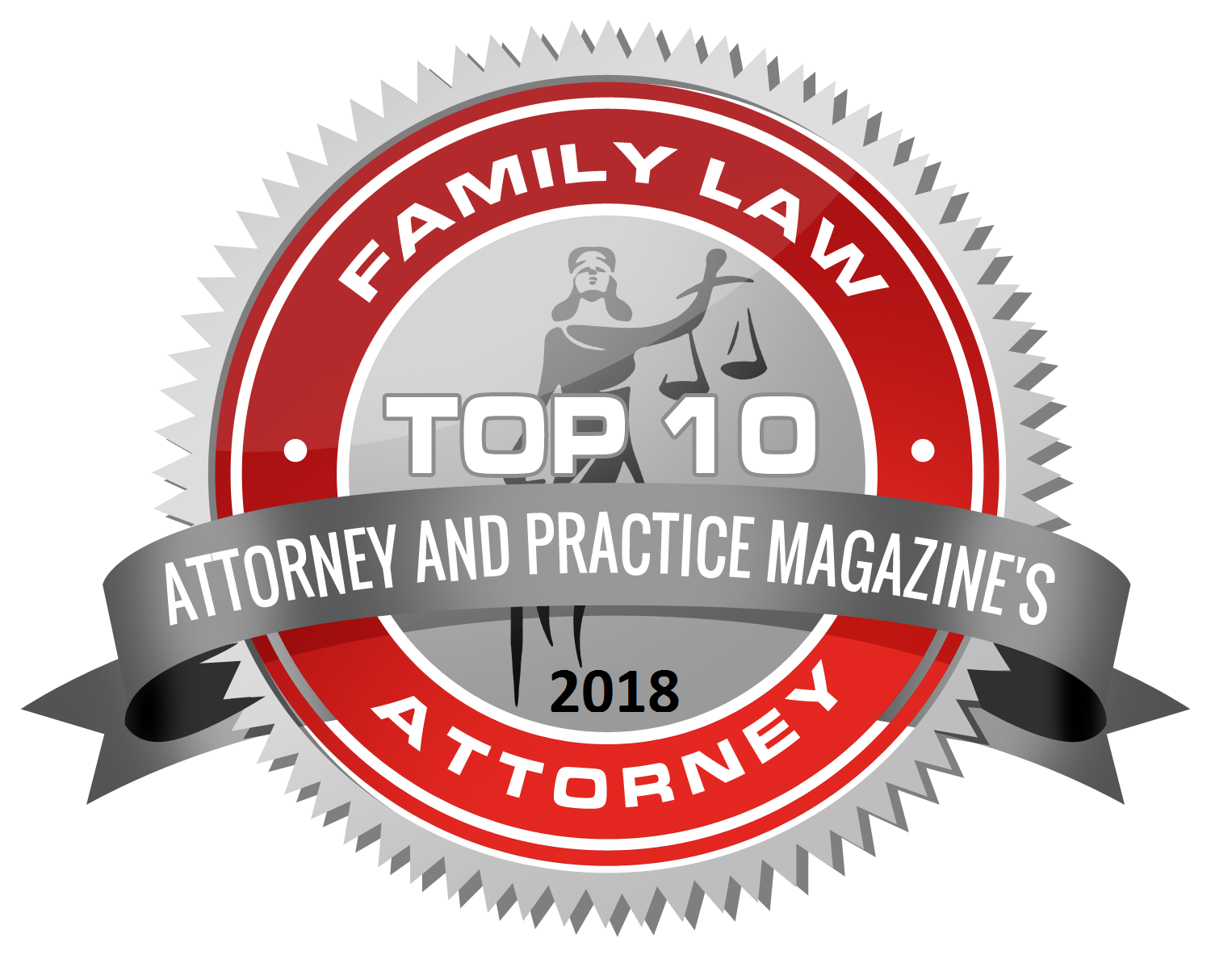 Top 10 Family law badge